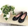 [MAMMA(マンマ)] の靴-妊婦、子育てママにやさしい靴!むくみ対応 Wインソール内蔵 脱ぎ履きしやすく滑りにくい バレエシューズ(ブラックのイメージ)